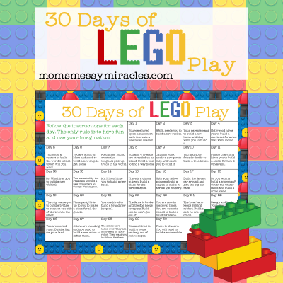 30 Days of LEGO Play – Free Printable Calendar