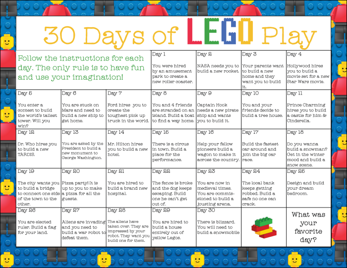 Lego30daysofplay preview