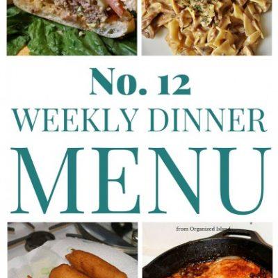 Weekly Dinner Menu #12