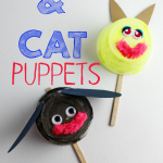 Recycled Dog & Cat Puppet Craft