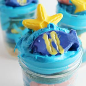 Ocean Cupcakes in a Jar