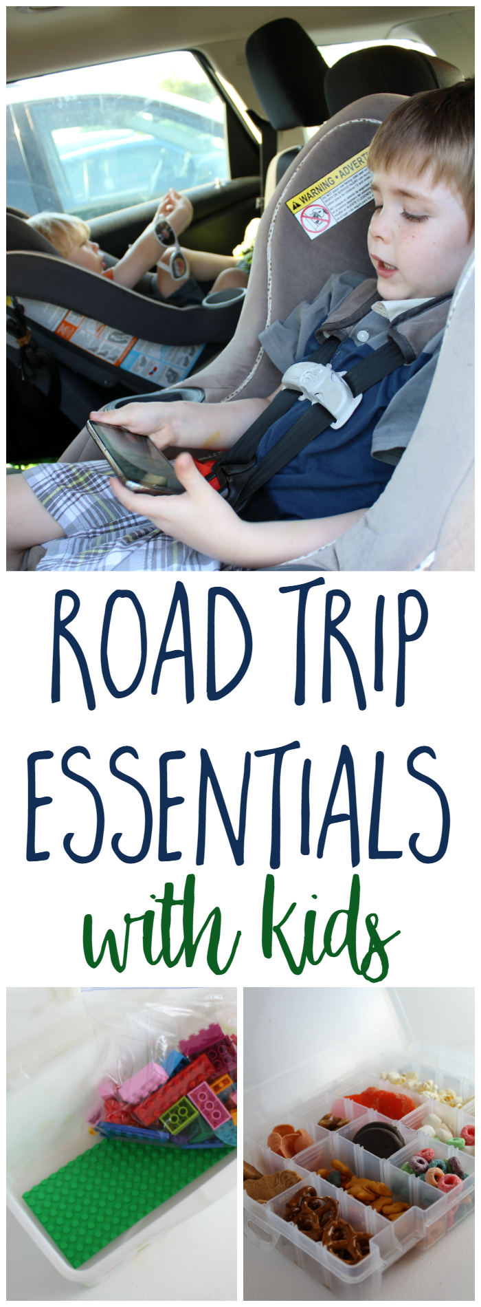 Road Trip Essentials with Kids - Those with children often cringe at the thought of traveling, especially a long car ride, with their kids in tow. Have no fear because we're sharing a few essentials for road trips with kids!