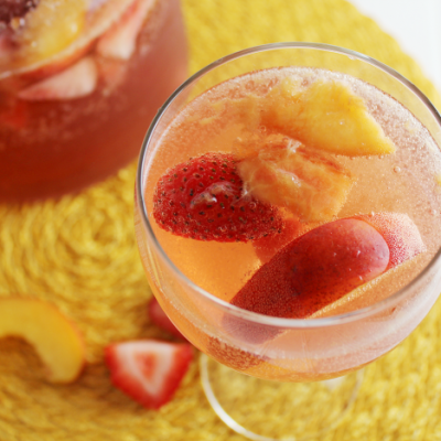 Strawberry-Nectarine Tequila Sangria