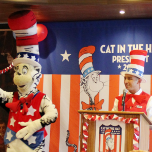 Carnival wants you to Vote Cat in the Hat for President!
