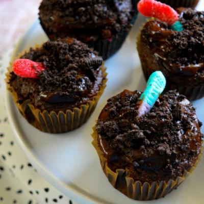 Pumpkin Spice Dirt Cupcakes