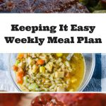 Easy Weekly Meal Plan #4