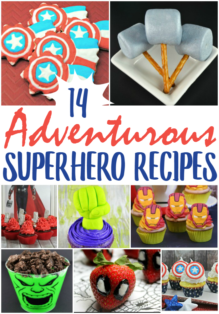 These adventurous superhero recipes are perfect for a superhero party or even just a fun evening at home!
