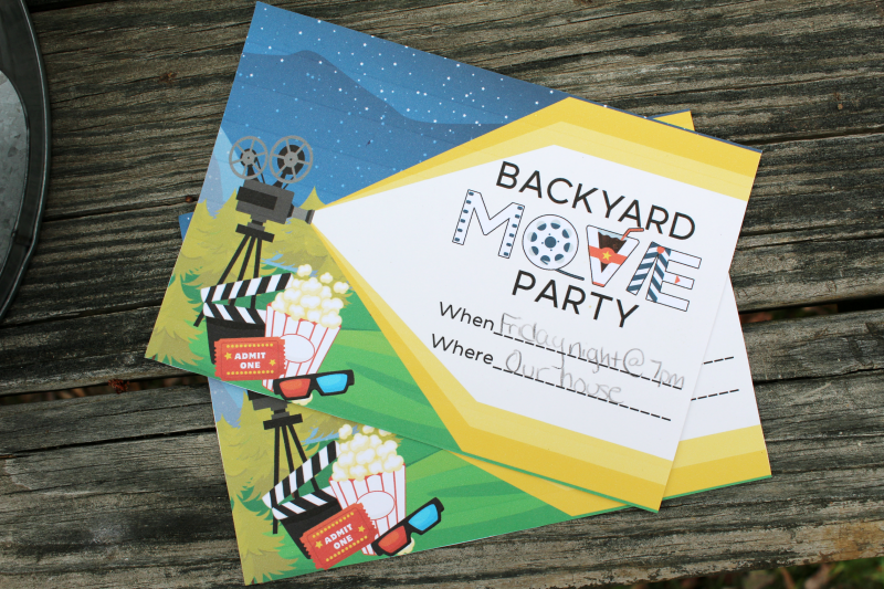 backyard movie party invites the shirley journey