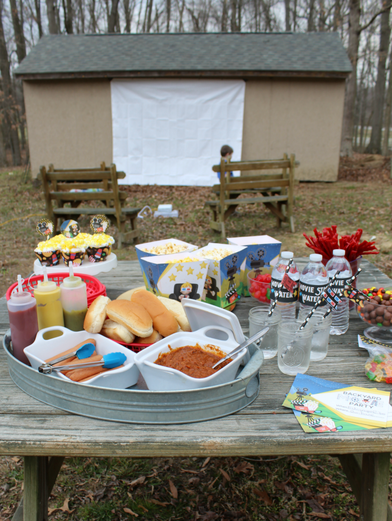 backyard movie night party free party printables the shirley