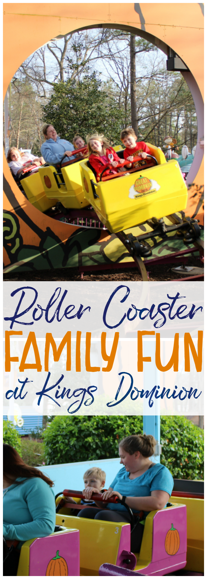 Kings Dominion has roller coasters for the whole family!