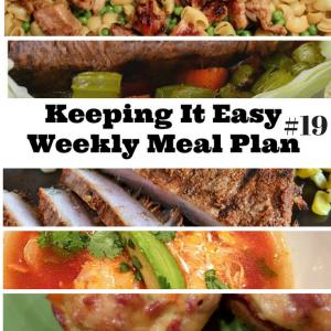 Easy Weekly Meal Plan #19