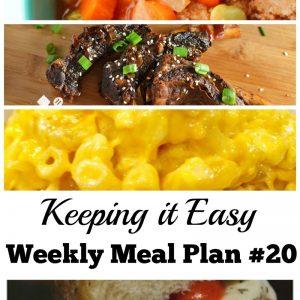 Easy Weekly Meal Plan #20