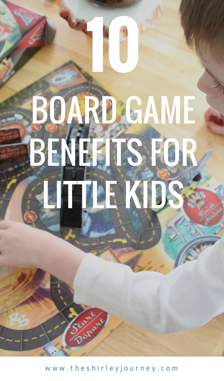 Not only are board games fun for kids, but there are benefits to playing board games with your little kids!