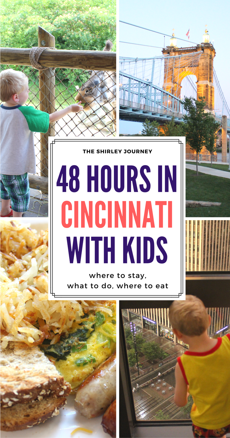 Cincinnati has plenty to offer families. See what this mom did on a recent 48 hour trip to Cincinnati with kids.