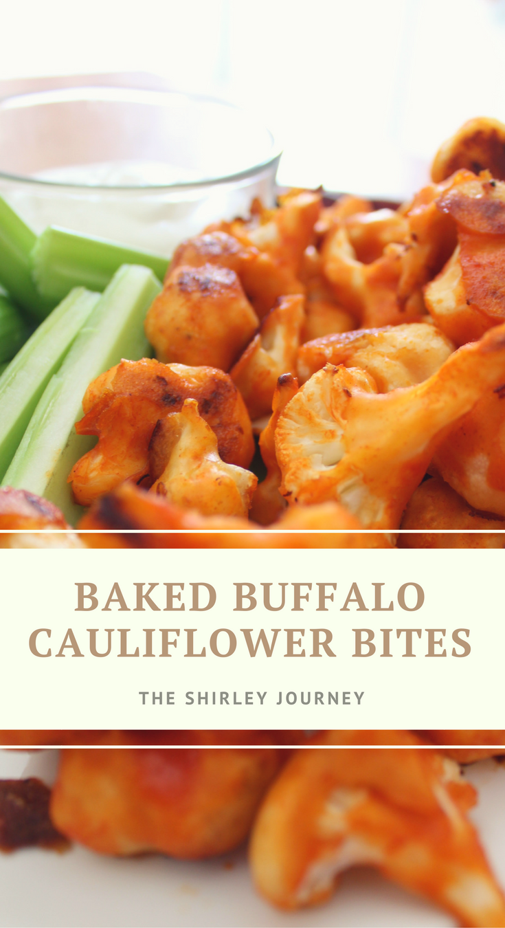 Baked Buffalo Cauliflower Bites are perfect for a healthier football party option!