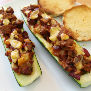 Jenny Craig Recipe: Taco Stuffed Zucchini Boats
