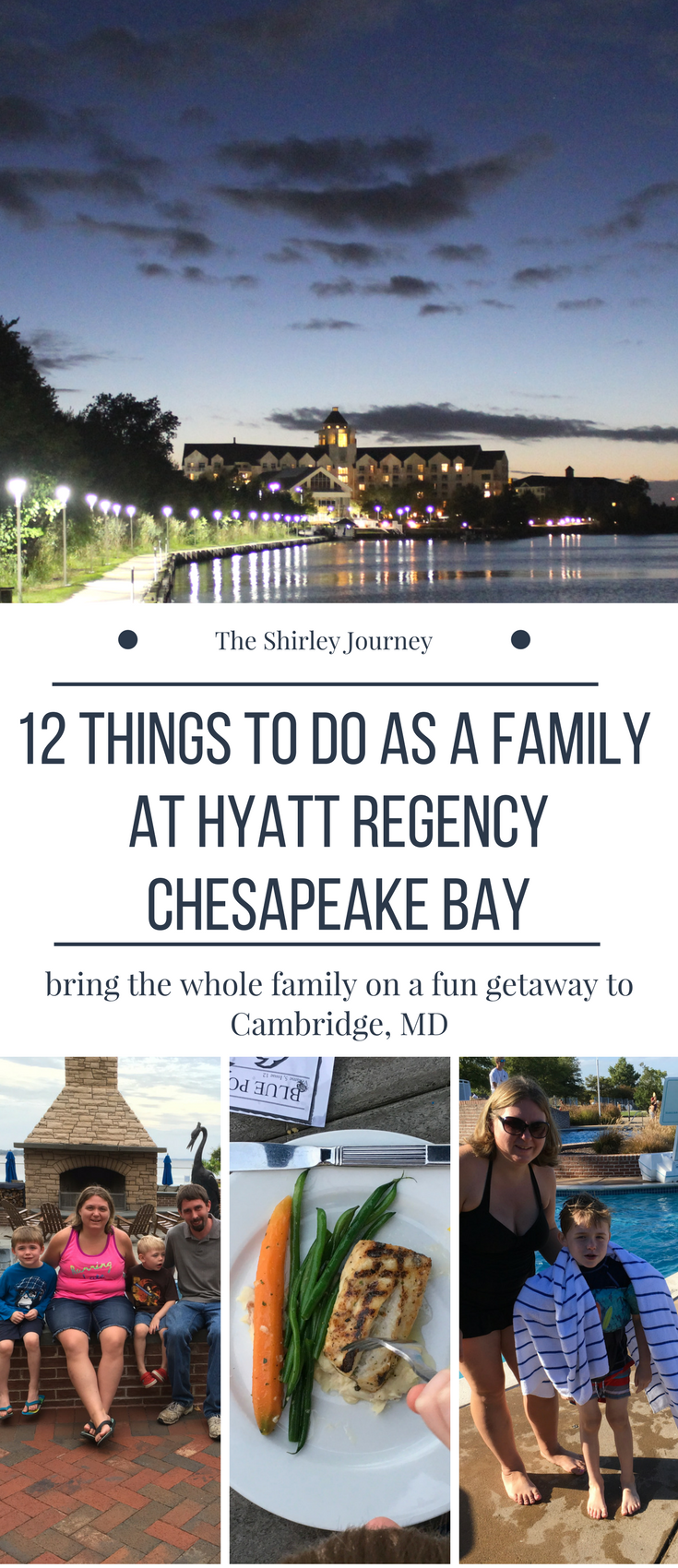 Bring the whole family for a fun getaway to Hyatt Regency Chesapeake Bay in beautiful Cambridge, MD.