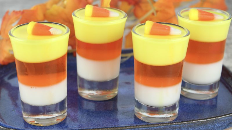 need a candy corn treat thats just for the grown ups these candy corn jello shots are perfect for halloween a fall party or even thanksgiving