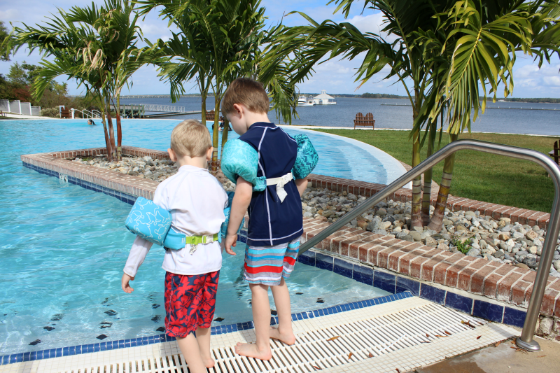 Kids In Infinity Pool Hyatt Regency Chesapeake Bay The Shirley Journey