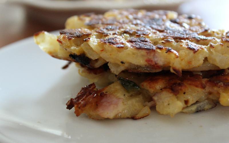 Ham & Cheese Potato Pancakes