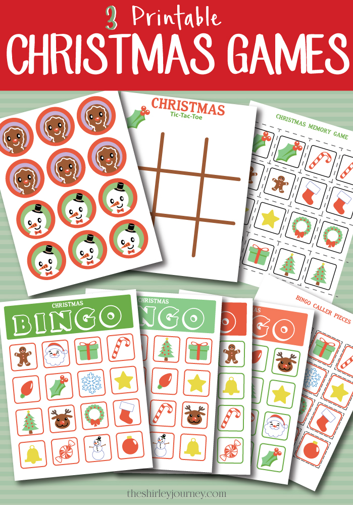 photo relating to Game Pieces Printable named Printable Xmas Game titles for Children - The Shirley Vacation