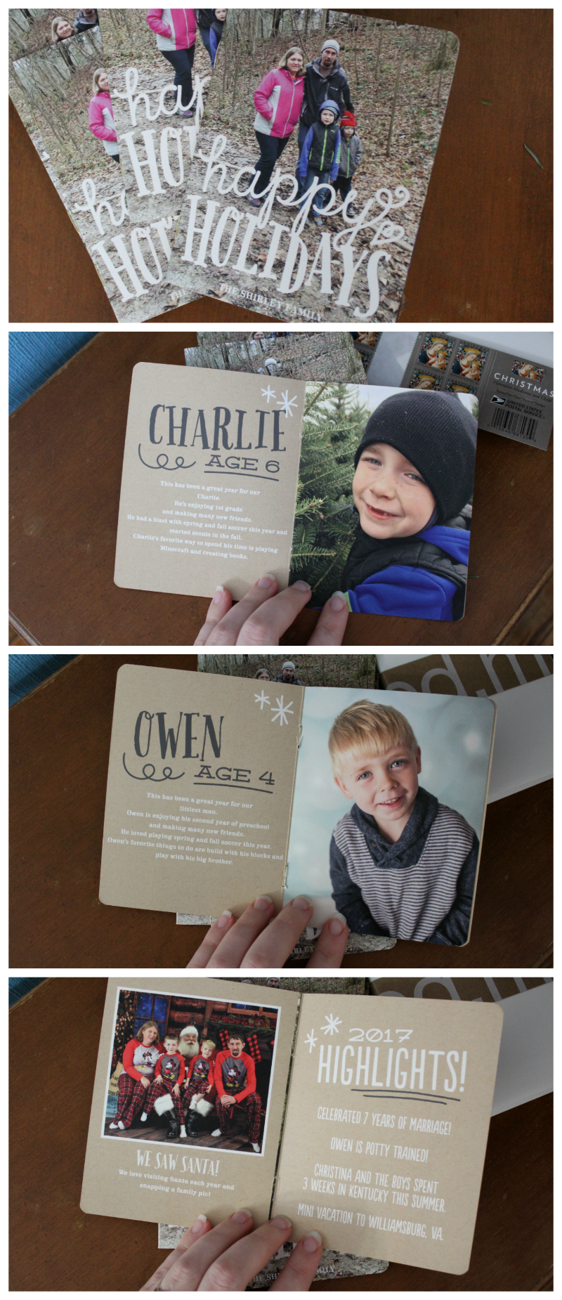 Christmas Card - Minted Booklette - The Shirley Journey