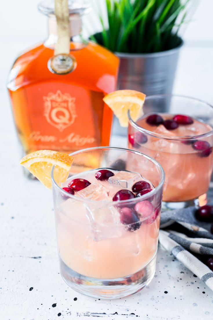 Cranberry Orange Rum Spritzer