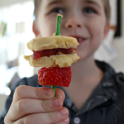 PB & J Waffle Kabobs with Fruit