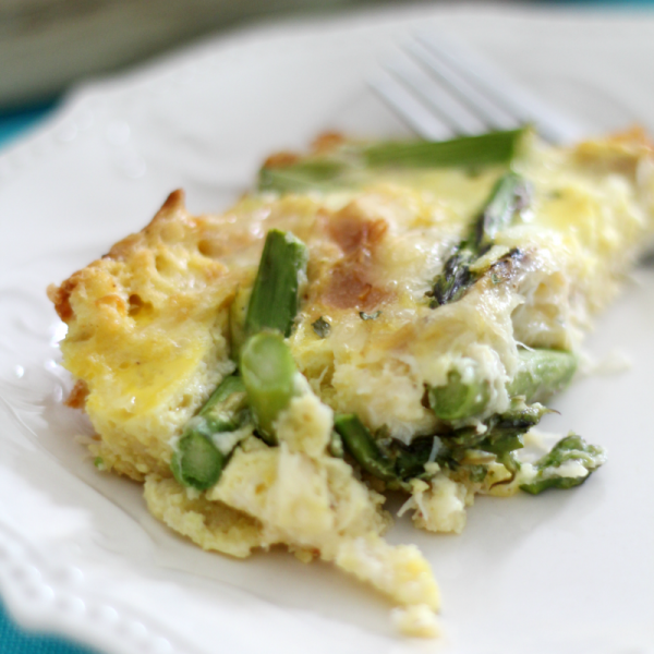 Cheesy Crab & Asparagus Egg Bake