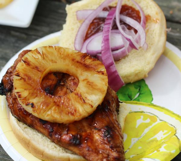 Hawaiian BBQ Grilled Chicken Sandwich