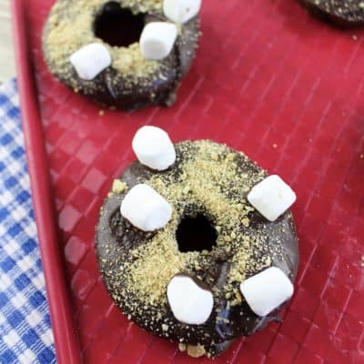 Cake Mix S'mores Donuts