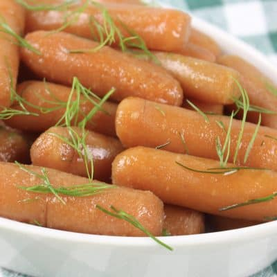 Honey and Brown Sugar Glazed Slow Cooker Carrots