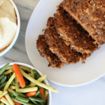 Slow Cooker Meatloaf and Mashed Potatoes Dinner