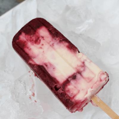 Yogurt & Cherry Ice Pops
