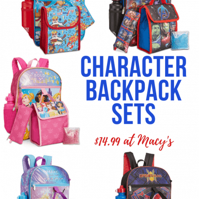 Character Backpack Sets on Sale at Macy's
