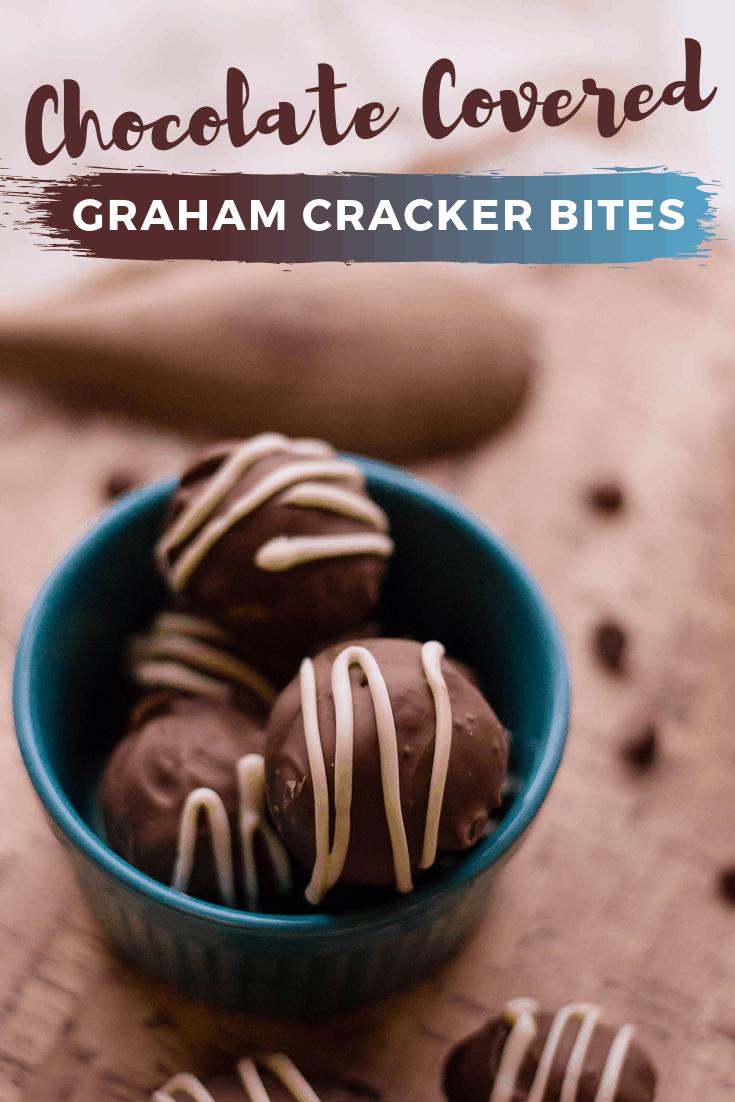 Chocolate Covered Graham Cracker Bites