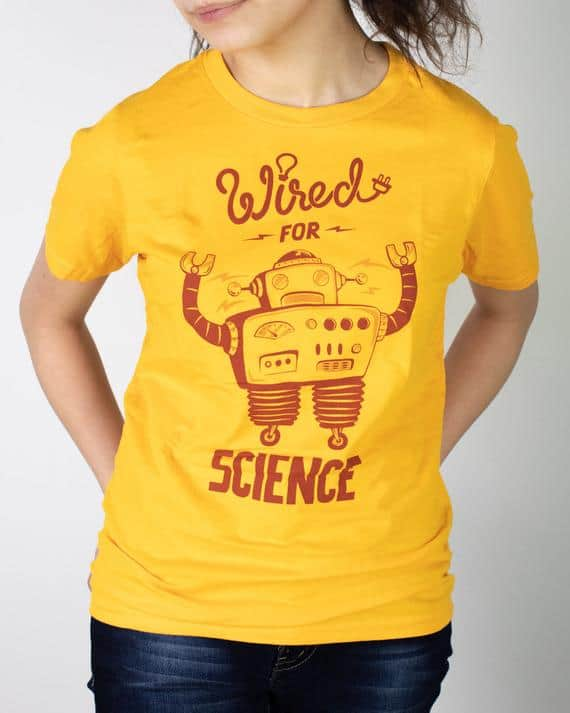 Wired For Science Youth T Shirt