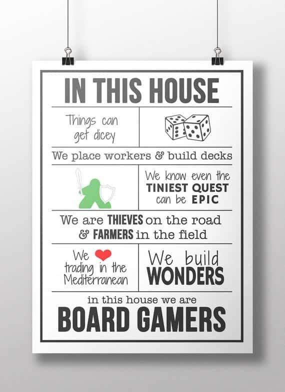 Board Game Geek Wall Art