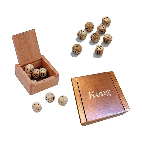 Personalized Dice Box with Wooden Dice