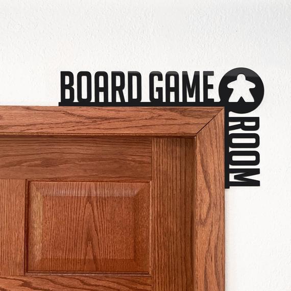 Board Game Room Meeple Door Sign for the top of your gaming room door