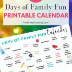 31 Days of Fun Family Activities + Printable Calendar