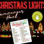 Christmas Lights Scavenger Hunt Printable