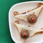 Cute Rudolph Sandwich Lunch for Kids